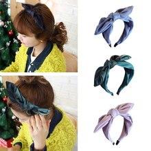 Cute Rabbit Ears Women Girls Hairband Top Bow Knot Turban Female Knotted Headband Head Wrap Cloth Hair Head Fancy headbands недорого