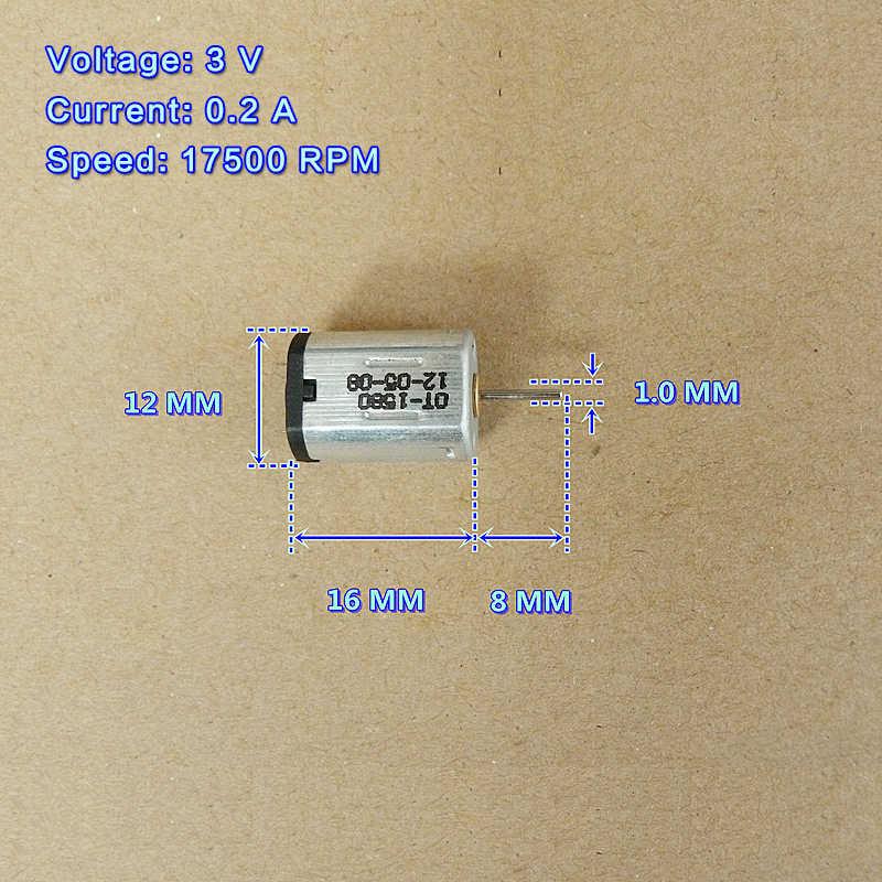 1 stücke Micro Motor DC 5 v 0.2A 30000 rpm Carbon Pinsel Motor Mini High Speed Starke Magnetische Motoren Für spielzeug Auto