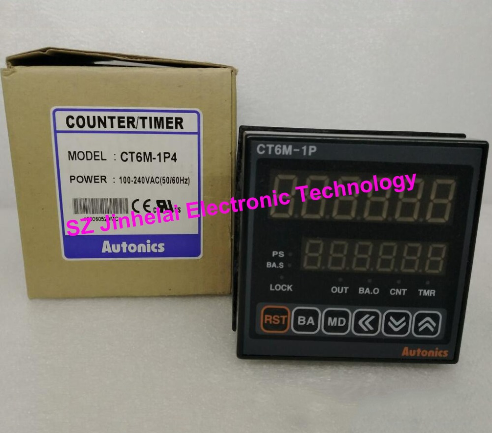 100%Authentic original CT6M-1P4 AUTONICS Count relay 100-240VAC Counter/timer 100% authentic original le4s autonics time relay timer