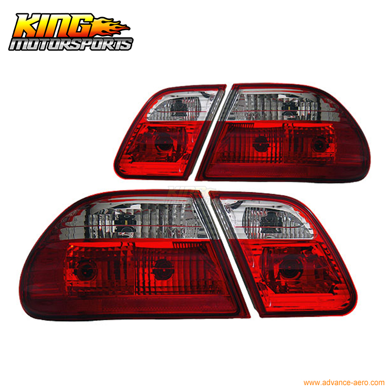 For 1996-2002 Mercedez Benz E Class W210 Tail Lights G2 Red Smoke 00 01 USA Domestic Free Shipping free ship turbo for mercedes benz e class m class e270 ml270 w210 w163 1999 om612 2 7l gt2256v 715910 715910 5002s turbocharger