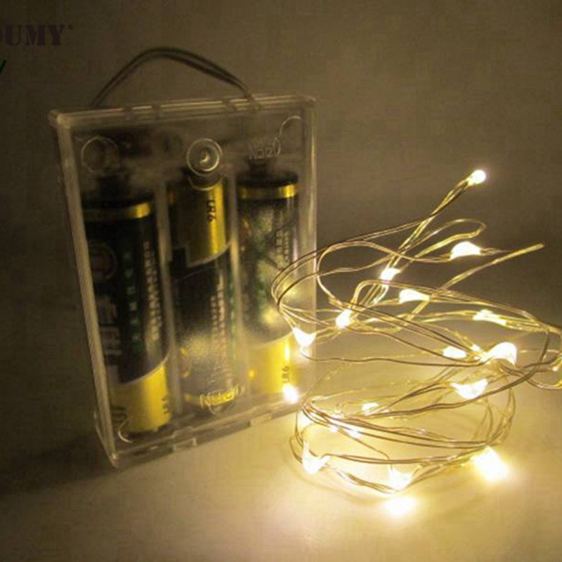SZYOUMY 5M 50 LED String Fairy Light Batteri Operated Xmas Party - Festlig belysning - Foto 4