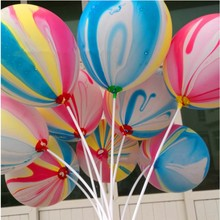 P1314 New 2015 50pcs/set 12 inch latex round colorful clouds air balloons kids birthday party wedding decorations supplies