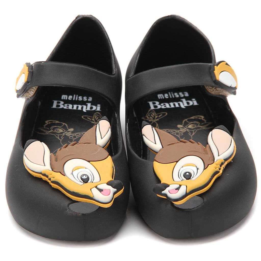 Melissa 2018 Deer Mini Bambi Shoes Printed Flower New Winter Jelly Shoe Sandals Fish Mouth Girl Non-slip Kids Sandal Toddler