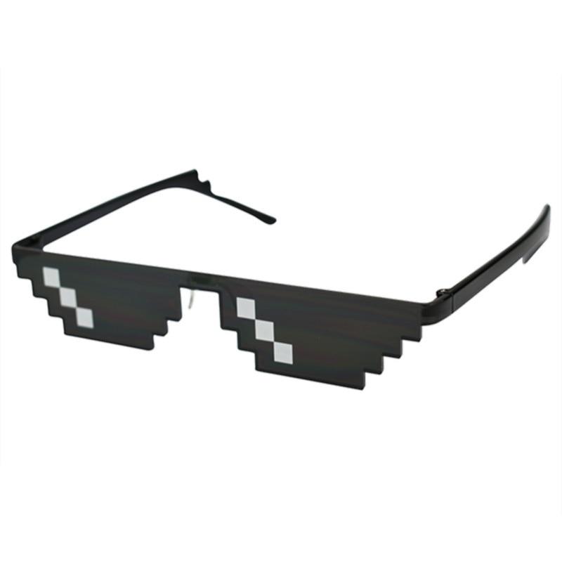 Очки в стиле ретро, 8 бит, MLG, пиксельные солнцезащитные очки, мужская женская одежда, Брендовые очки Thug Life Party Mosaic UV400, 2019 title=