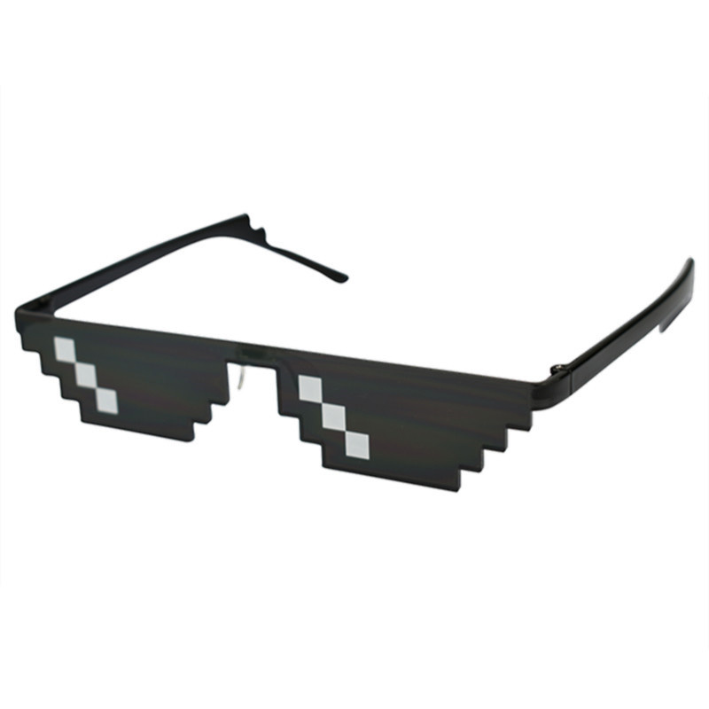 2019 Retro Glasses 8 Bit MLG Pixelated Sunglasses Men's Women's Clothing Brand Thug Life Party Glasses Mosaic UV400 Glasses