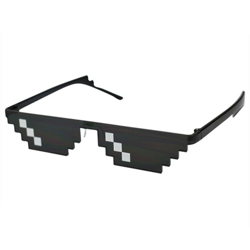 2019 Retro Kacamata 8 Bit MLG Pixelated Kacamata Hitam Pria Wanita Merek Pakaian Thug Life Pesta Kacamata Mosaik UV400 kacamata