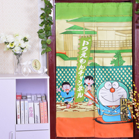 Japan Style Lovely Cute Cartoon A Dream Print Window Curtains Summer Style Prevent Mosquito Kitchen Window