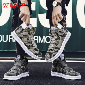 Image 4 - Fashion High Top Camo Casual Shoes Men Respirant Denim Sneakers Krasovki Chaussure Homme Tenis Masculino Adulto Male Footwear