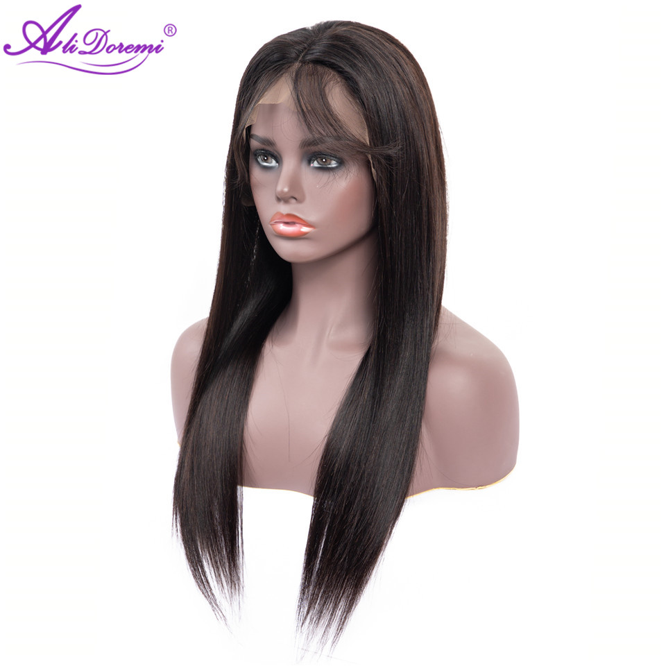 Alidoremi Brazilian Straight Hair 13*4 Lace Front Human Hair Wigs 130% Density 8-26inch Wigs Non Remy Hair