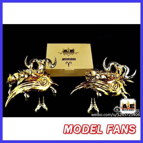 MODEL FANS AE model EX soul of Gold aries mu gold Saint Seiya Myth Cloth metal armor kits gift metal feet brand metal club mc anime saint seiya character ex myth cloth soul of gold god ex aries mu figure