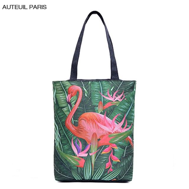 AUTEUIL PARIS New Arrival Women Casual Totes Big Capacity Handbag Ladies High Quality Shoulder Bag Flamingo Handbag  ES1522