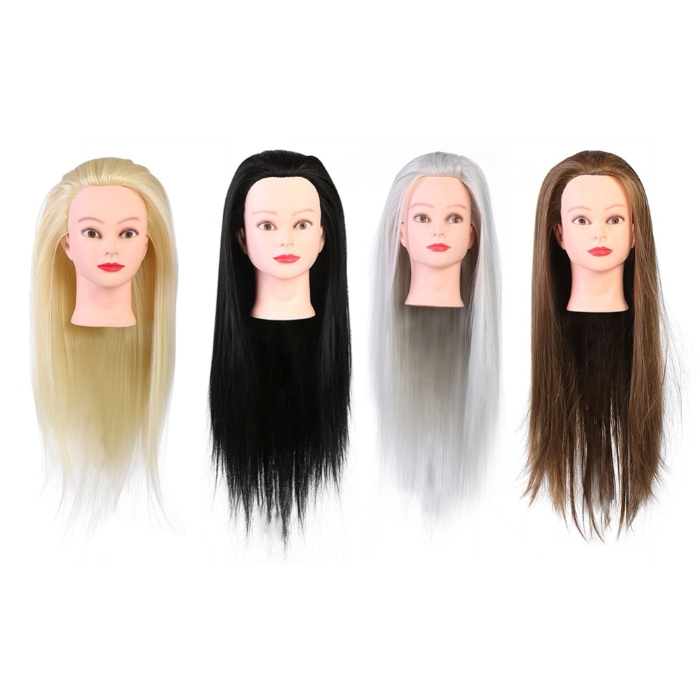 Women Professional Hair Salon Cosmetology Hairdressing Practice Head Mannequin Dolls Salon Training Model Hair Styling Tools