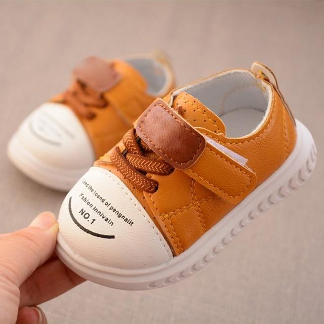best sneakers b8a24 53be2 US $6.0 |Scarpe In Pelle bambino Neonato Mocassini Sneakers DELL'UNITÀ di  elaborazione di Modo Del Bambino Delle Ragazze Dei Ragazzi Scarpe Bambino A  ...