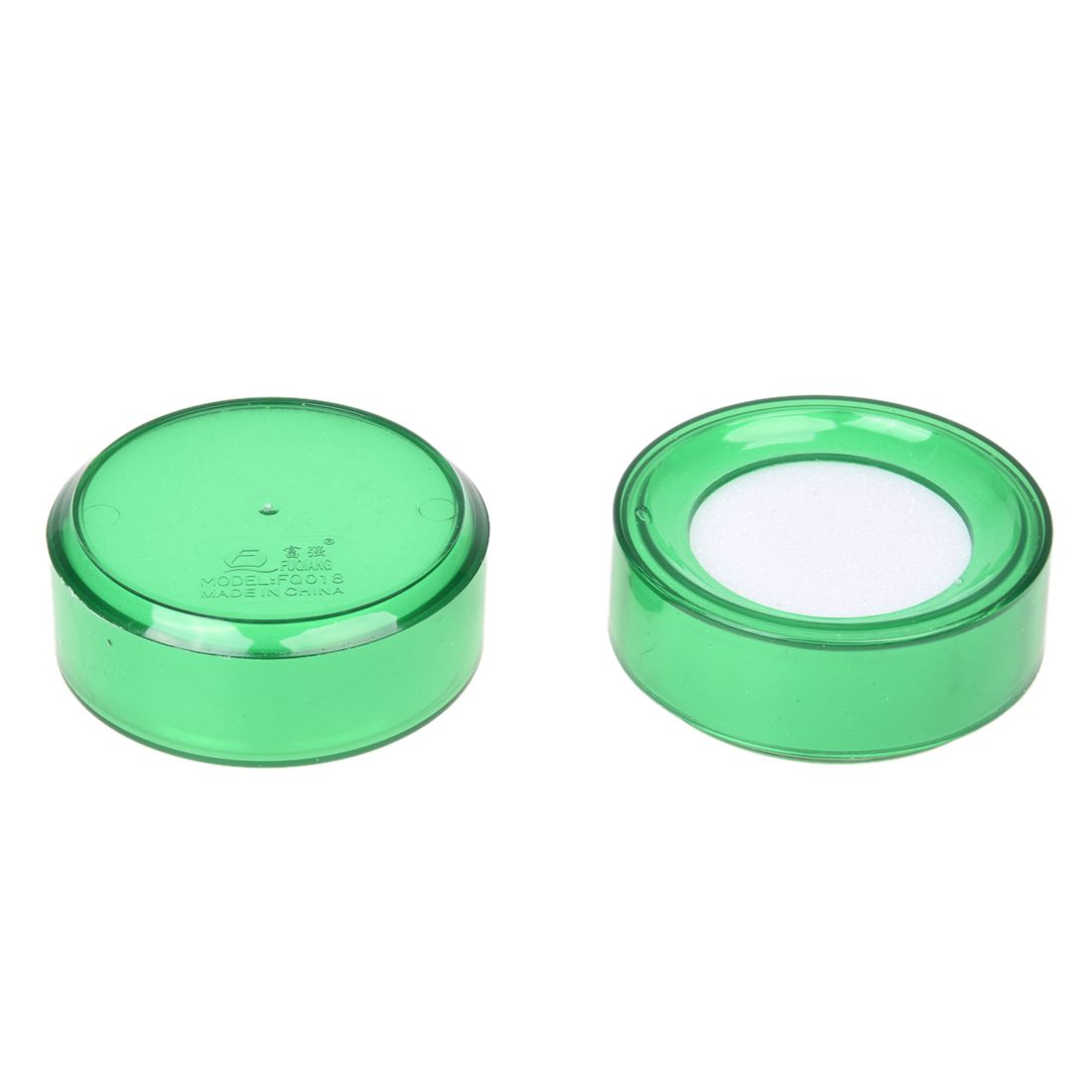 HOT GCZW- Green Plastic 7cm Dia Sponge Finger Wet Money Cashier 2 Pcs
