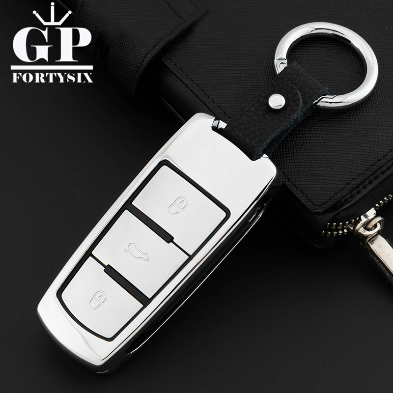 Zinc Alloy Leather Car Styling Key Cover Case For Volkswagen VW CC Passat B6 B7 Passat 3C CC Maogotan R36 B5 B7L Auto Key Cover car data can bus gateway diagnosis interface for volkswagen vw passat b6 cc 3c0 907 530 l