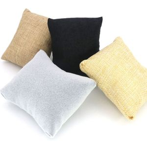 3 Pcs/lot 4 Colors Fabric Watch Bangle Bracelet Pillow Display Holder Gift Jewelry Cushion For Cases Diy Accessories Wholesale(China)
