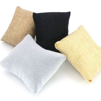 3 Pcs/lot 4 Colors Fabric Watch Bangle Bracelet Pillow Display Holder Gift Jewelry Cushion For Cases Diy Accessories Wholesale