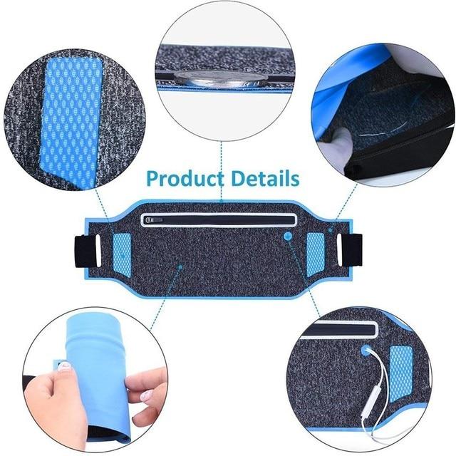 1 PC Ultralight Outdoor Running Bag Men Women Trail Waist Sport Mobile Phone Holder Belt Sport Accessories Lady Fitness Gear 5