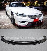 Углеродного волокна 3D стиль авто передняя губа Splitter фартук автомобиль-Стайлинг для BMW E89 Z4 2009-2016 Тюнинг автомобилей автомобильные аксессуары