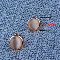 10 prs Round stud earring cat eye stone  earrings for women