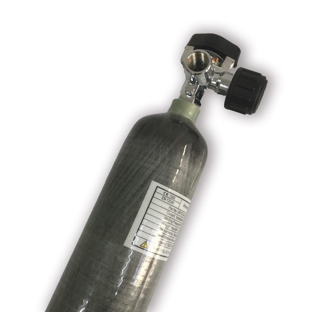 Acecare pcp air gun use 2L 30Mpa carbon fiber gas cylinder 4500psi high pressure paintball tank for hunting and diving+valve
