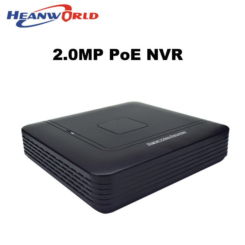 Heanworld 4CH POE NVR HD 1080P network video recorder 2.0MP CCTV System Surveillance Video Recorder Onvif for CCTV IP camera подвесная люстра reccagni angelo l 9250 6