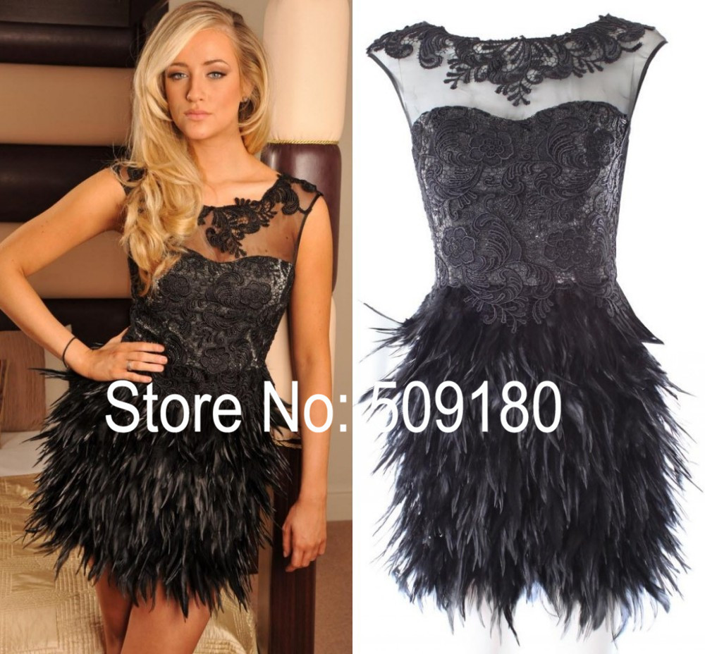 Popular Feather Cocktail Dress-Buy Cheap Feather Cocktail Dress ...