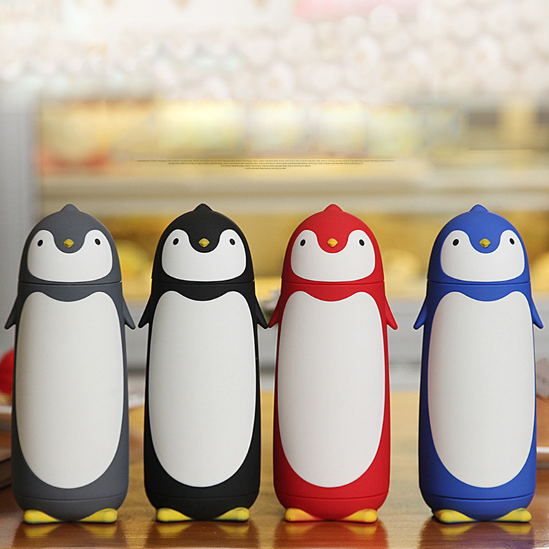 280ml Penguin inox Cup Thermal Mug Vacuum Insulation Bottle Thermos Cafe Coffee Water Bottle Tumbler Water