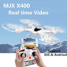 White MJX X400 RC Helicopter Drone 2.4G 4CH 6-Axis Quadcopter Remote Control With C4005 HD Camera FPV RTF Adult Kids Toy Gift