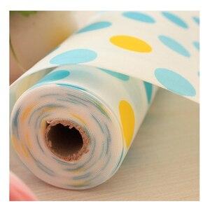 Image 2 - 5 Rolls/Set Nicht Klebe Regal Papier Schöne Dot Muster Schublade Lagerung Liner für Schublade Tisch Küche Schränke speisekammer