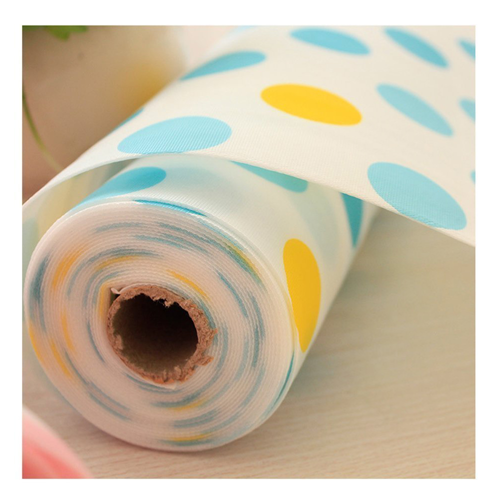 Image 2 - 5 Rolls/Set Non Adhesive Shelf Paper Beautiful Dot Pattern Drawer Storage Liner for Drawer Table Kitchen Cabinets Pantry-in Drawer & Shelf Liner from Home & Garden