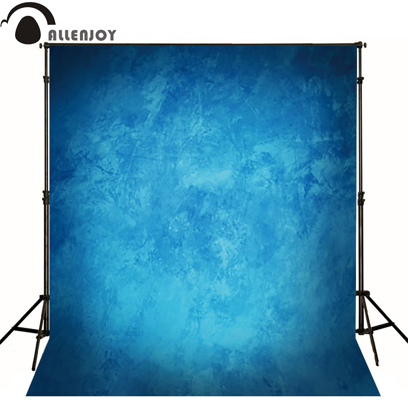 Allenjoy Thin Vinyl cloth photography Backdrop blue Computer Printing Background for Wedding Photo Studio Pure Color MH-075