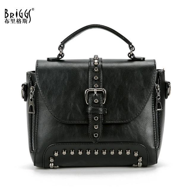 94f553fcdab1 Vintage Luxury Handbags Women Bags Designer Quality Leather Female Shoulder  Bag Rivet Casual Tote Bags bolsa