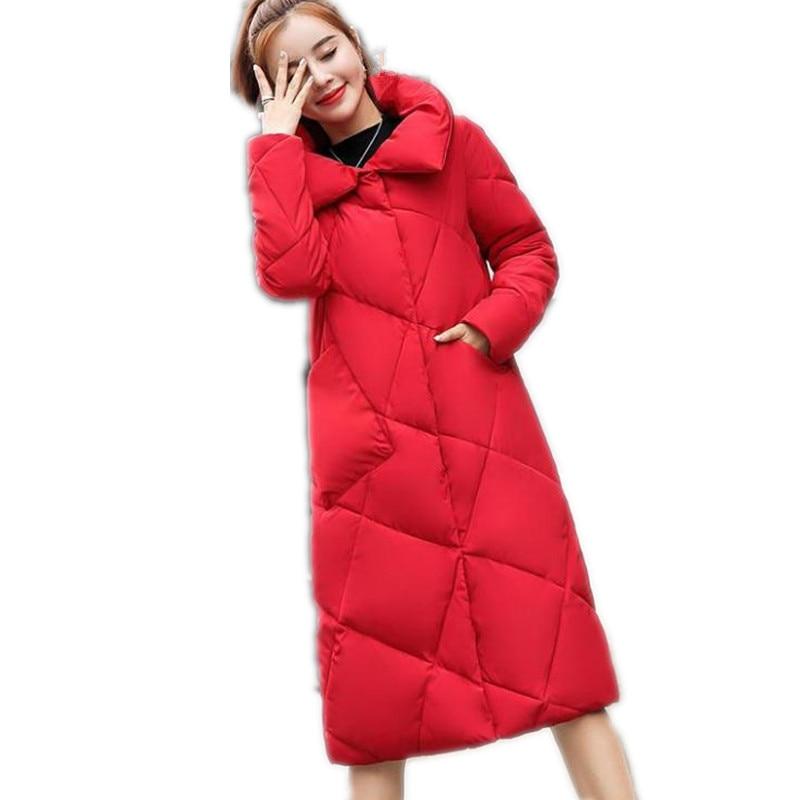 Color Mode Grande Doudoune dark Taille 2019new red Femme army Coatsq659 Green Arrivée black Bouton Turn caramel White Hiver gray De down Parkas 3xl Long Col Blue Femmes D'hiver Beige qYS1C