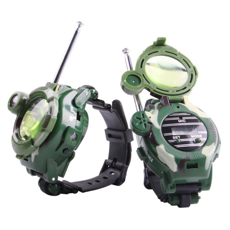 Brand New 1 Pair Plastic Walkie-Talkie 7 in 1 Children Watch Outdoor Interphone Toy Outdoor Fun Electronic Intercom