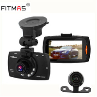Car DVR Camera 2 7 Full HD 1080P 170 Degree Dual Lens Recorder Motion Detection Night