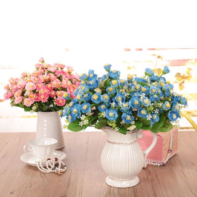 Austin Bunch 15 Heads Spring Silk Flowers Artificial Rose Wedding Floral  Decor Plant Flower Arrangement Home