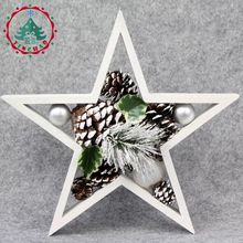 A composite wood ornaments, Christmas ornaments artificial snow white Christmas gift simulation