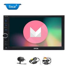 "7"" Touch Screen Car Stereo Radio Receiver Double Din with with Android 6.0 Car Radio Player Quad core+Wireless Backup Camera"
