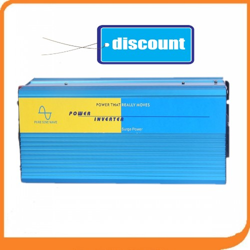 Free Shipping New Arrive 3000W Power Inverter Pure Sine Wave Invertor DC 12V to AC 220V Solar/Wind/Car/Gas Power Converter selected novels of george eliot