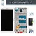 Para huawei honor 7 display lcd de toque digitador da tela com moldura assembléia display lcd pantalla de substituição branco preto + ferramentas