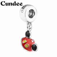 925 Sterling Silver Mixed Enamel Cartoon Mickey Ear Hat Pendant Charms Beads For Jewelry Making Diy