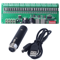 30 Channels Decoder Easy DMX RGB LED Strip Light Controller Bare Board dmx512 Decoder controller Dimmer 12v console+USB Decoder