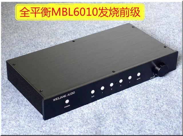HiFi MBL6010 كامل التوازن نسخة Preamplifier التحكم عن بعد Preamp RCA/XLR الانتهاء Preamplifier