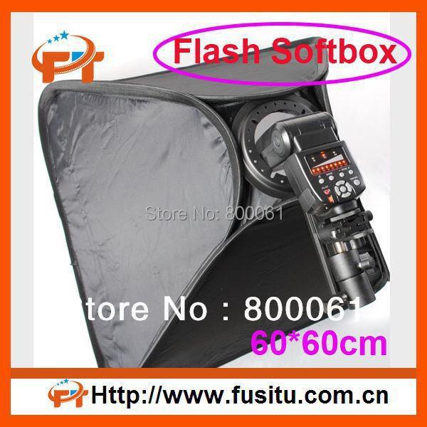 "60*60cm 24""*24"" Softbox For SpeedLight Flash 60cm / 24"" Flash Speedlite Soft box"