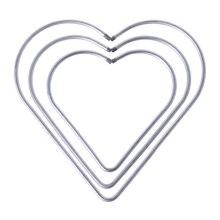 Сердце Металл Ловец снов кольцо «Ловец снов» макраме ремесло обруч DIY аксессуары