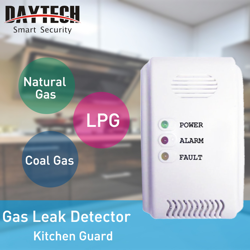 DAYTECH Home Security Combustible Gas Leak Alert Detector LPG/Coal/Natural Gas Leak Voice Alarm Sensor GAS01 new standalone combustible gas alarm lpg lng coal natural gas leak detector sensor for home security safety free shipping