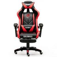 Yeni varış Yarış sentetik Deri oyun sandalyesi İnternet kafeler WCG bilgisayar sandalyesi rahat yalan ev Sandalye