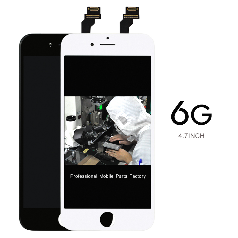 Prix pour 10 pcs/lot écran 4.7 lcd pour téléphone mobile pour iphone 6 lcd assemblée d'affichage remplacement oem caméra titulaire