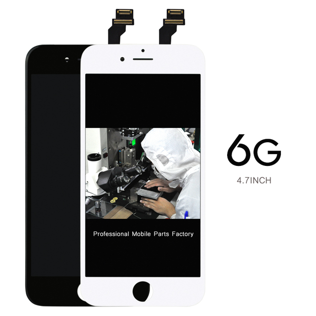 AAA לא מת פיקסל 20 יח\חבילה מסך 4.7 digitizer עבור iPhone 6 Lcd תצוגת עצרת החלפת מצלמה מחזיק